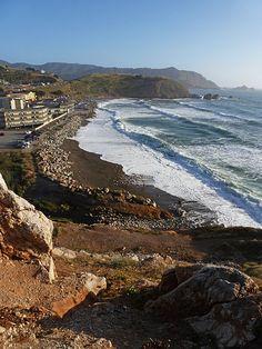 Rockaway Beach, Pacifica, California (view from the cliffs.