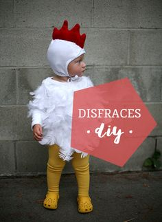 21 old man costumes for kids!DIY Halloween costumes for kidsno sewing necessary! internet at large there are so many great ideas for DIY Halloween costumes out there. Toddler Chicken Costume, Chicken Costumes, Toddler Costumes, Baby Chicken Halloween Costume, Costume Garçon, Costume Carnaval, Diy Costumes, Costume Ideas, Redneck Party