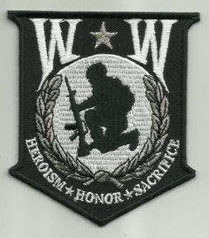 Wounded Warrior HEROISM SACRIFICE Military Biker Patch WW