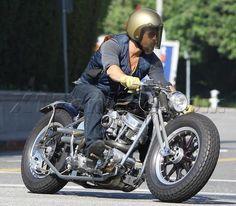 Brad Pitt on a motorcycle