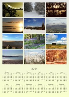 A3 personalised calendar. Use your own photographs to make an ideal gift
