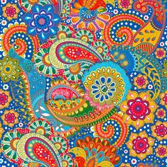 Floral seamless. Colorato Paisley sfondo, tessile
