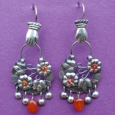 Mexican Silver Earrings Vintage Style Designer Elena Solow Handmade Mexico | eBay