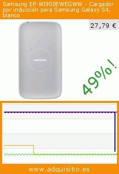 Samsung EP-WI950EWEGWW - Cargador por inducción para Samsung Galaxy S4, blanco (Accesorio teléfono inalámbrico). Baja 49%! Precio actual 27,79 €, el precio anterior fue de 54,39 €. https://www.adquisitio.es/samsung/ep-wi950ewegww-cargador