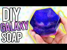 DIY GALAXY SOAP - EASY Melt & Pour! - YouTube