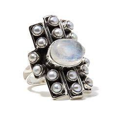 Nicky Butler Gemstone Sterling Silver Linear Ring