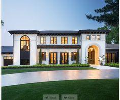 Spanish Style Homes, Spanish House, Modern Mediterranean Homes, Mediterranean House Exterior, Urban Cottage, Minnesota Home, Dream House Exterior, Dream Home Design, Home Fashion