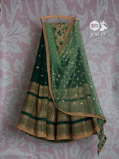 Green Colour Georgette Wih Embroidery Work Lehenga Choli with Matching Color unstiched blouse. It contained the Embroidered work with inner. The Lehenga can be customized up to bust size 44 , Lehenga Length 48 , Waist size 38 , and Dupatta size Mtr. Lehnga Dress, Lehenga Blouse, Lehenga Choli, Anarkali, Bridal Lehenga, Lehenga Wedding, Kids Lehenga, Sari, Patiala