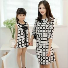 s Clothing Children' Mom Daughter Matching Outfits, Mommy Daughter Dresses, Mom And Baby Outfits, Mother Daughter Fashion, Matching Family Outfits, Kids Outfits, Matching Clothes, African Dresses For Kids, African Fashion Dresses