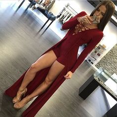 Cheap jumpsuits designer, Buy Quality jumpsuit catsuit directly from China jumpsuit style Suppliers: New Fashion Style Sexy Design Bodycon Jumpsuit Long Sleeves Playsuit Black Elegant Rompers Womens Jumpsuit Overalls for Women Sexy Dresses, Dresses For Less, Sexy Outfits, Party Dresses, Dress Party, Summer Dresses, Evening Dresses, Kohls Dresses, Dresses Short