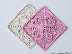 Ystävää muistetaan sydämin ❤ Virkattu Hertta-ruutu ohjeineen löytyy blogista ❤ ••• Crochet square: Hearts Crochet Squares, Crochet Granny, Baby Blanket Crochet, Crochet Motif, Crochet Stitches, Crochet Baby, Knit Crochet, Crochet Patterns, Granny Square Tutorial