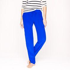 Silk crepe de chine pant  Jcrew  -the ultimate lounge pants