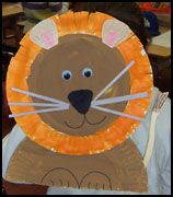 Lion Paper Plate Craft from www.daniellesplace.com