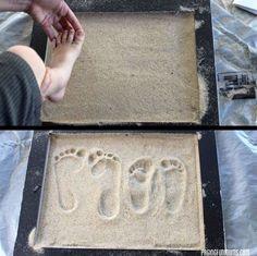 How to make a footprint in beach sand keepsake.How to make a footprint in beach sand keepsake. Sand Footprint, Footprint Crafts, Nautical Bathrooms, Beach Bathrooms, Beach Decor Bathroom, Kid Bathrooms, Nautical Theme Bathroom, Pirate Bathroom Decor, Kids Bathroom Art