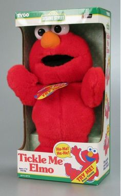 """Tyco """"Sesame Street"""" Tickle Me Elmo talking plush (hey, you KNOW I had to put it there!)"""