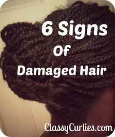 All Things Natural Hair:Tips,Styles and Giveaways: Natural Hair: 6 Signs of Damaged Hair