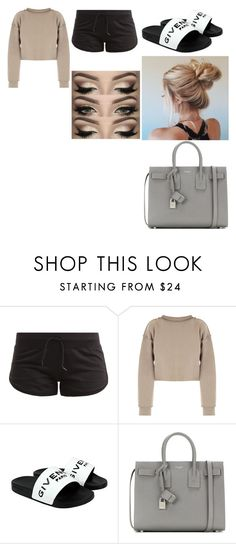 """""""Untitled #37"""" by gracesmedley87 ❤ liked on Polyvore featuring adidas, My Mum Made It, Givenchy and Yves Saint Laurent"""