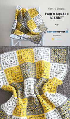 Learn How to Crochet the Fair and Square Blanket by Yarnspirations