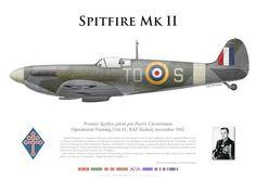 RAF, Spitfire Mk II, Operational Training Unit 61, RAF Rendal, novembre 1942 - premier Spitfire piloté par Pierre Clostermann.