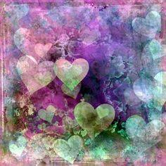 Watercolor Hearts Wallpaper