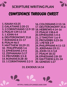 Bible Writing Plan Confidence Through Christ - Trend Giving Love Quotes 2019 Scripture Reading, Scripture Study, Bible Verses, Scriptures, Bible Encouragement, Christian Encouragement, Psalms, Gratitude, Writing