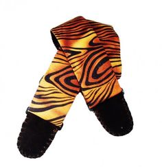 Tiger Stripes Animal Print Handmade Guitar Strap... what a cool gift idea!