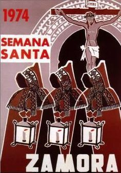 Cartel de la Semana Santa de Zamora. 1974. Capas pardas