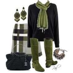 """""""skirts and boots"""" by pamlcs on Polyvore"""