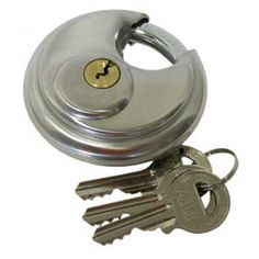 When using a self storage unit, always secure it with a sturdy disc lock, not the lock from your gym locker.