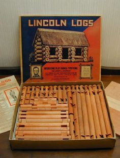 Lincoln logs were a terrific Christmas present.  Brother Bobby and I used to spend hours on the floor lost in basic architecture.