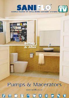 Saniflo Upflush Toilets And Macerating Pumps Lowest Price Free - Macerator pump for basement bathroom for bathroom decor ideas