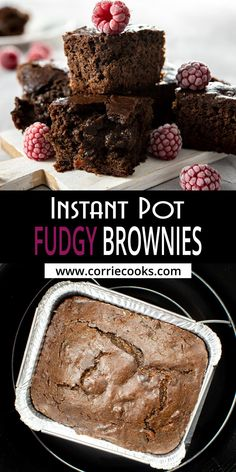 There are few desserts as perfect as a warm batch of fudgy brownies topped with some vanilla ice cream. Well, this Instant Pot brownies recipe is incredibly easy to make and yields a perfectly balanced texture between cake and fudge. They're everything you want a brownie to be! Fudgy Brownies in your pressure cooker is the best dessert for chocolate lovers!