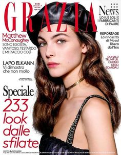 Vittoria Ceretti by Jason Lloyd-Evans for Grazia Italia 20 July 2017 Cover Grazia Magazine, Vogue Magazine Covers, Lapo Elkann, High Fashion Models, Top Models, Fashion Cover, Fashion Advertising, Gaines, Ootd