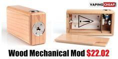 Wood Mechanical Box Mod $22.02 - http://vapingcheap.com/wood-mechanical-box-mod/