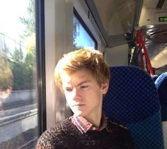 Thomas Brodie-Sangster. My expression exactly when I'm on any mode of transportation.