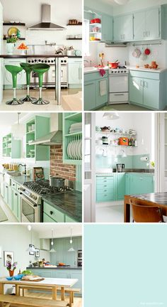 Thinking about black cabinets and mint walls!