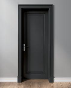 Denkmalschutz- und Villentüren | Schöne Türen Interior Door Styles, Black Interior Doors, Door Design Interior, Modern Interior, Wooden Interior Doors, Interior Trim, Dark Doors, The Doors, Bedroom Door Design