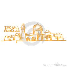 Jerusalem skyline drawing - Google Search Skyline Logo, Skyline Tattoo, Jerusalem, Arte Judaica, Pewter Art, City Drawing, City Logo, Three Wise Men, Urban Sketching
