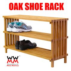 Oak Shoe Rack. Free plans and how-to video.