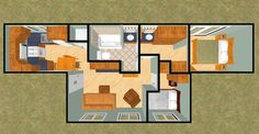 Cargo Container House Plans | ... Squared 480 sq ft Shipping Container Floor Plan | Cozy Home Plans