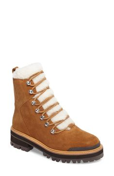 Find Marc Fisher LTD Izzie Genuine Shearling Lace-Up Boot (Women) online. Shop the latest collection of Marc Fisher LTD Izzie Genuine Shearling Lace-Up Boot (Women) from the popular stores - all in one Dress With Boots, Lace Up Boots, Most Popular Shoes, Fashion Jackson, Faux Leather Leggings, Waterproof Boots, Brown Boots, Hiking Boots, Combat Boots