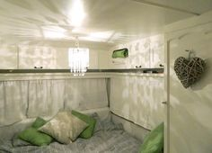 I know it's inside a camper, but I love this color palette!!