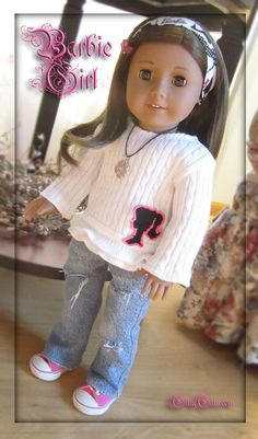 Barbie Girl  American Girl Doll clothes outfit by by GillyGals, $29.99