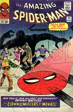 Another Marvel Rarity.no actual Spidey on cover.Amazing Spider-Man # 22 by Steve Ditko Marvel Comics Superheroes, Marvel Comic Books, Comic Book Heroes, Comic Books Art, Comic Art, Marvel Characters, Marvel Heroes, Silver Age Comics, Amazing Spiderman