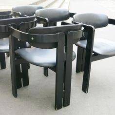 Set of 6 Pigreco Armchairs Tobia Scarpa Galerie Modernariato Paris, modernariato.fr