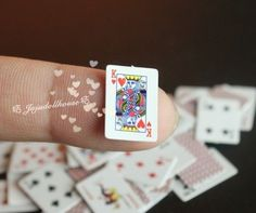 1/12 Scale Dollhouse Miniature Tiny Poker 1 package Ornament