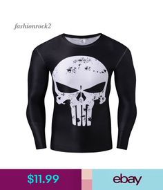 d76a9b66 T-Shirts Marvel Comic Punisher T-Shirt 3D-Printed High Elastic Tee Christmas