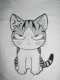 She is too adorable when she is pissed off, LOL ...  Chii's Sweet Home, Chi, Chi's Sweet Home, Chii, cat, T-shirt