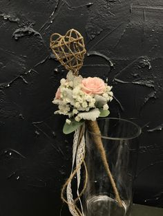 Wedding Party: Flower Girl Floral Wand