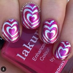 "VALENTINE'S DAY SALE! Use Code: BEMINE and get Heart Swirl Nail Vinyls free plus 15% Off when you spend $20.  This I ""Heart"" Swirls mani is by @nailartdesign11 (IG) snailvinyls.com"
